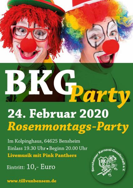 Eintrittskarte Rosenmontags-Party 2020